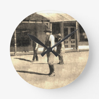 Gunfight Ready Vintage Old West Wallclock