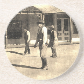 Gunfight Ready Vintage Old West Coasters