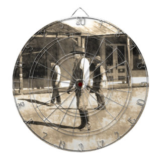 Gunfight Ready Vintage Old West Dartboard With Darts