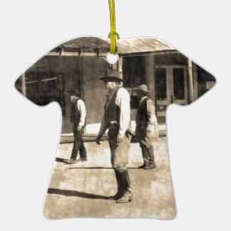 Gunfight Ready Vintage Old West Ceramic T-Shirt Decoration