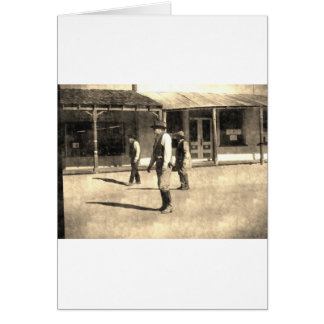 Gunfight Ready Vintage Old West Greeting Card