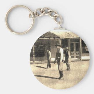 Gunfight Ready Vintage Old West Keychain