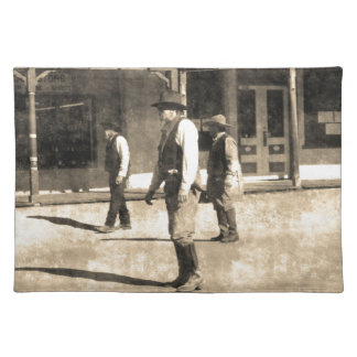 Gunfight Ready Vintage Old West Place Mat