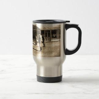 Gunfight Ready Vintage Old West Stainless Steel Travel Mug