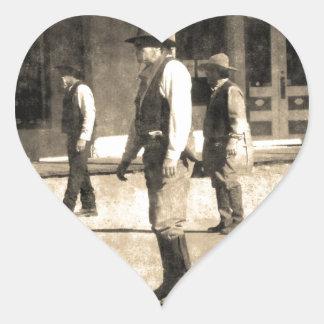 Gunfight Ready Vintage Old West Heart Sticker