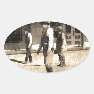 Gunfight Ready Vintage Old West Sticker