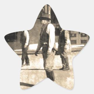 Gunfight Ready Vintage Old West Star Sticker