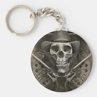 Gunfighter Basic Round Button Key Ring