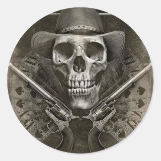 Gunfighter Round Sticker