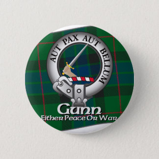 Gunn Clan 6 Cm Round Badge