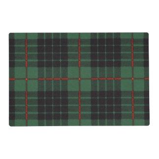 Gunn clan Plaid Scottish tartan Laminated Placemat