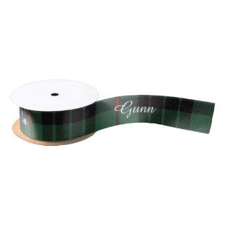 Gunn clan Plaid Scottish tartan Satin Ribbon