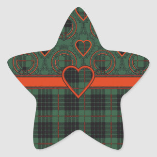 Gunn clan Plaid Scottish tartan Star Sticker