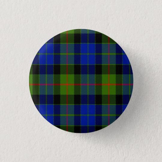 Gunn Scottish Tartan 3 Cm Round Badge