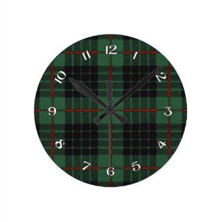 Gunn Scottish Tartan Round Clock