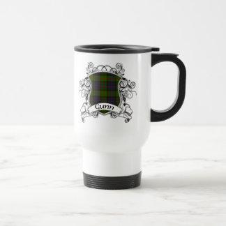 Gunn Tartan Shield Stainless Steel Travel Mug