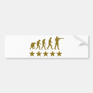 gunner evolution 5 stars bumper sticker