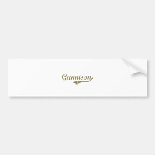 Gunnison Colorado Classic Design Bumper Stickers