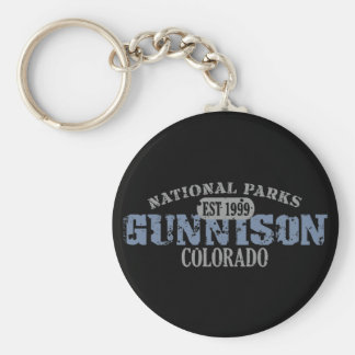 Gunnison National Park Basic Round Button Key Ring
