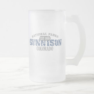 Gunnison National Park Frosted Glass Mug