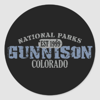Gunnison National Park Round Sticker