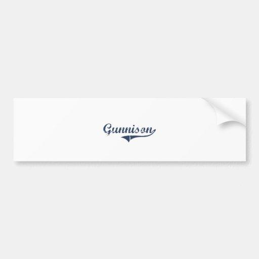 Gunnison Utah Classic Design Bumper Stickers