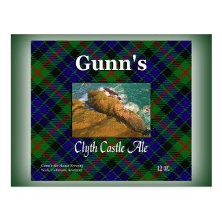Gunn's Clyth Castle Ale Postcard