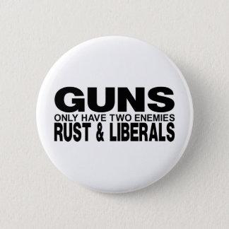 GUNS 6 CM ROUND BADGE