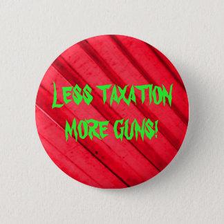 Guns and Taxes 6 Cm Round Badge