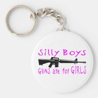 GUNS ARE FOR GIRLS KEY RING
