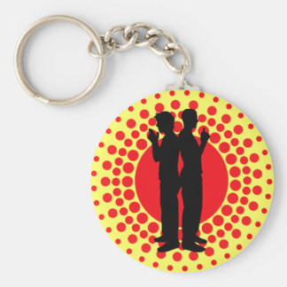 Guns At Sundown Basic Round Button Key Ring