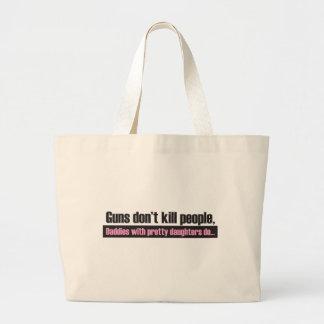 Guns Don't Kill People Jumbo Tote Bag