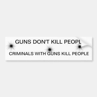 GUNS DONT KILL PEOPLE BUMPER STICKER