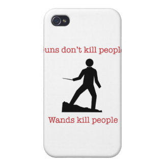Guns don't kill people. Wands kill people. iPhone 4 Cases