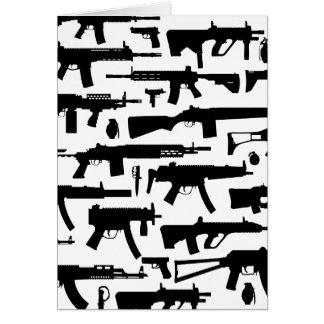Guns pattern greeting card