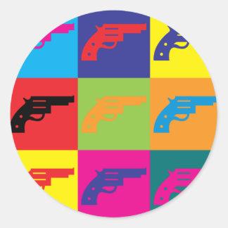 Guns Pop Art Round Sticker