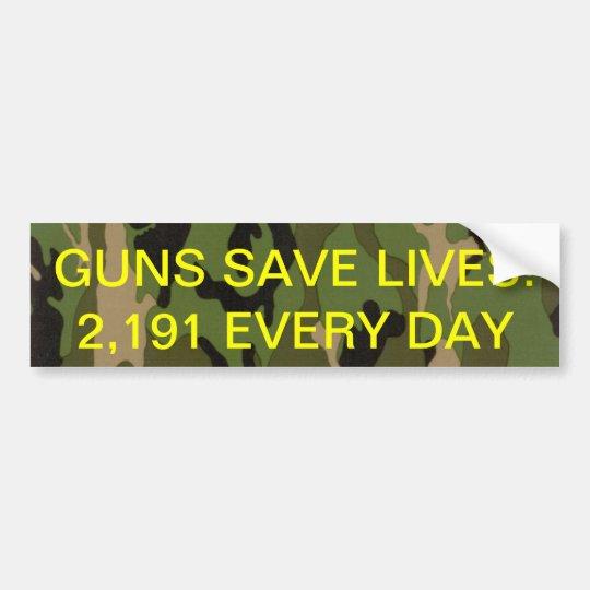 guns save lives bumper sticker