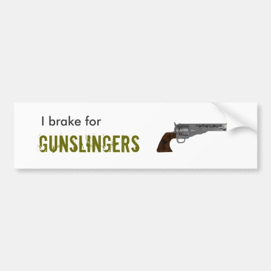 Gunslinger Bumpersticker Bumper Sticker