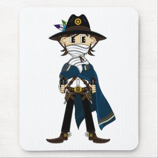 Gunslinging Cowboy Sheriff Mousepad
