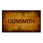 Gunsmith Antique Brushed Business Card