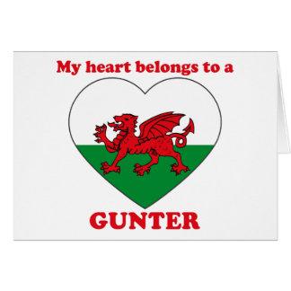 Gunter Greeting Card