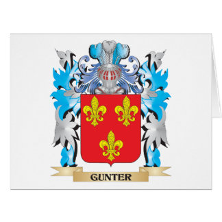 Gunter Coat of Arms - Family Crest Card