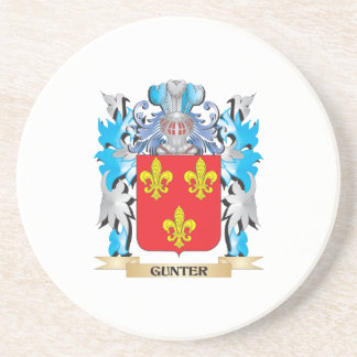 Gunter Coat of Arms - Family Crest Beverage Coasters