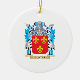 Gunter Coat of Arms - Family Crest Christmas Ornaments