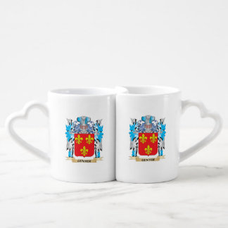 Gunter Coat of Arms - Family Crest Couples' Coffee Mug Set