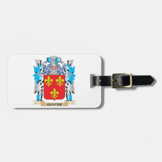Gunter Coat of Arms - Family Crest Tag For Luggage