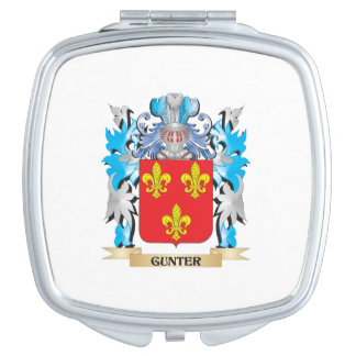 Gunter Coat of Arms - Family Crest Travel Mirrors