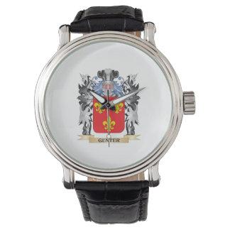 Gunter Coat of Arms - Family Crest Wrist Watch