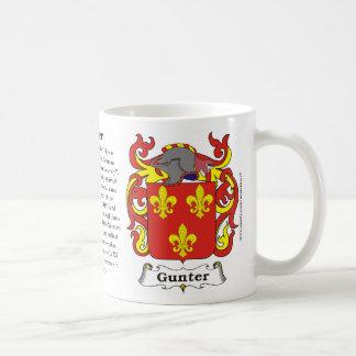 Gunter Family Coat of Arms Mug
