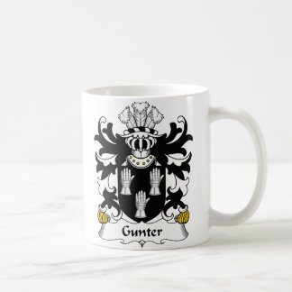 Gunter Family Crest Coffee Mug